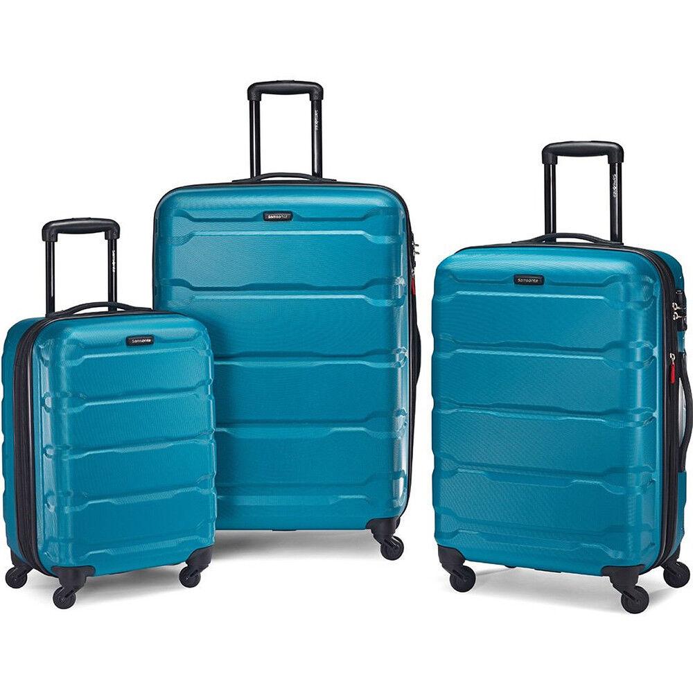 Samsonite Omni Hardside 3 Piece Nested Spinner Luggage Set (20, 24, & 28 Inch) Caribbean Blue