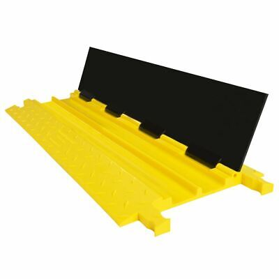 Guardian Cable Protector Ramp 2-channel 16000 Lb Dog-bone Modular Poly Cp-2p-16