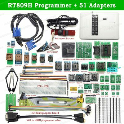 Rt809h Emmc-nand Flash Programmer 51 Adapters With Cabel Emmc-nand Suction Pen