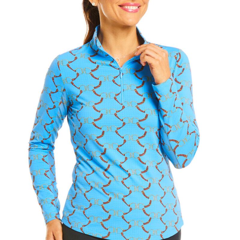 IBKUL Ladies Long Sleeve Mock Neck Top - Belmont Print