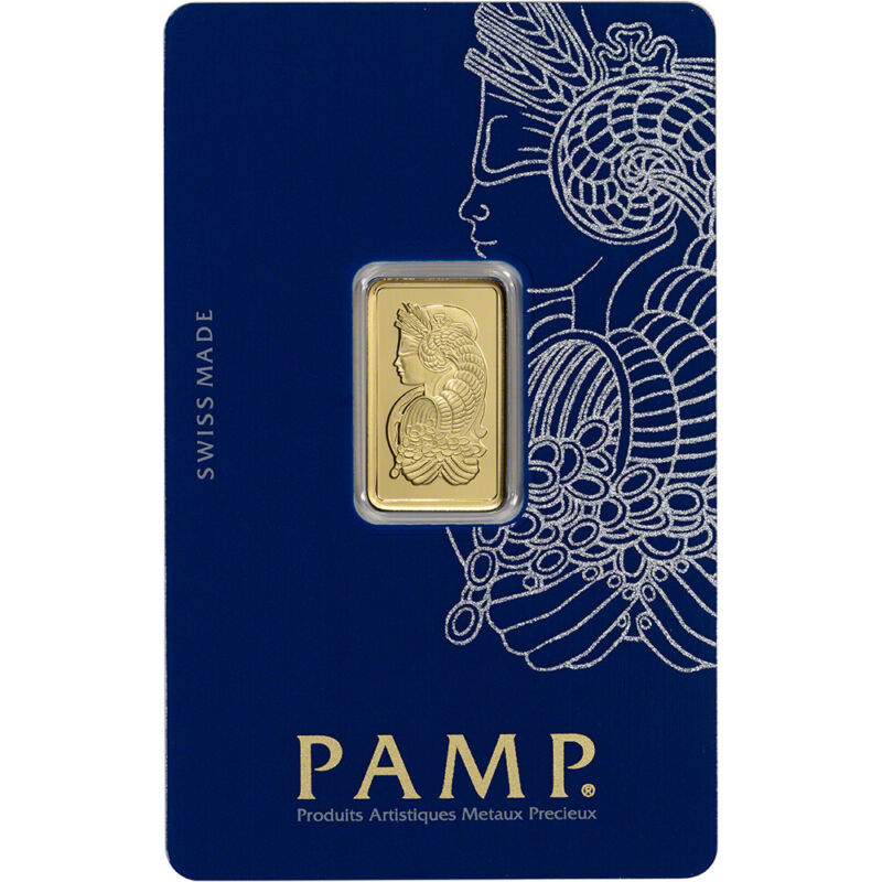 5 gram Gold Bar - PAMP Suisse - Fortuna - 999.9 Fine in Sealed Assay