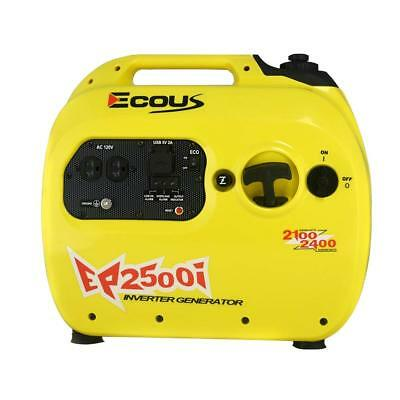 Eco Us Ep2500i Gas Powered Inverter Generator - 2100 Rated 2400 Peak Watts