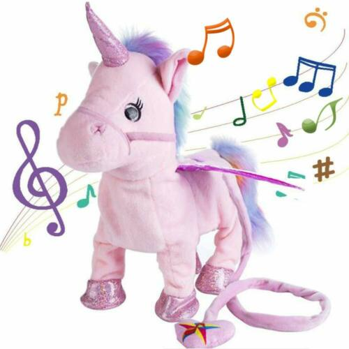 Walking Unicorn Singing Electric Interactive Plush Toy Gift for Kids Boys Girls Baby