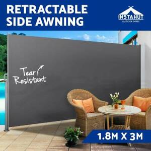 1.8X3M Retractable Side Awning Privacy Screen Shade Patio ...