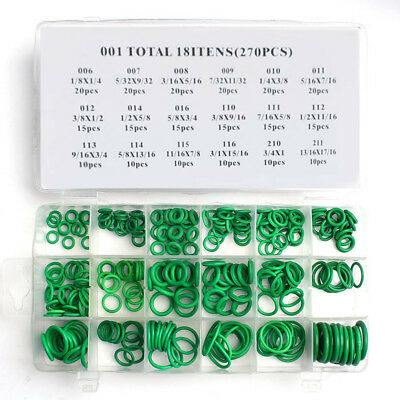 270PCS R134A 18Sizes Assortment Car Air Condition Rubber O-Rings A/C Repair Seal