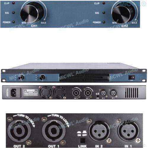 2 Channel 3200 Watts Professional DJ PA Power Amplifier Rack Mount 3200W MiCWL