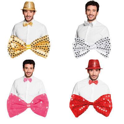 Gold, Silber, Rot oder Rosa, ideal für viele Kostüme (Rote Pailletten Fliege)