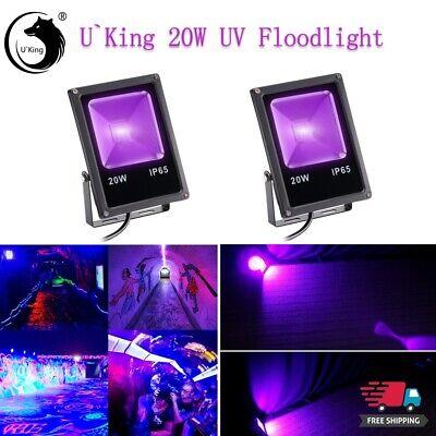 2PCS U`King Bright UV Black Light Party Stage Lighting 20W 20COB LEDs - Blacklight Parties