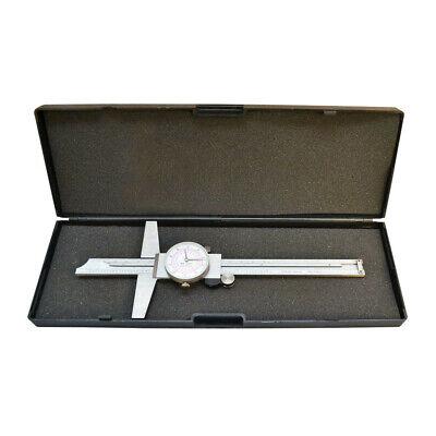 6 150mm Inch Metric Dual Reading Dial Caliper Ruler Mechanical Tool