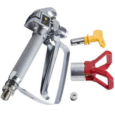3600psi Airless Paint Spray Gun W Tiptip Guard Sprayers Aluminum Silver