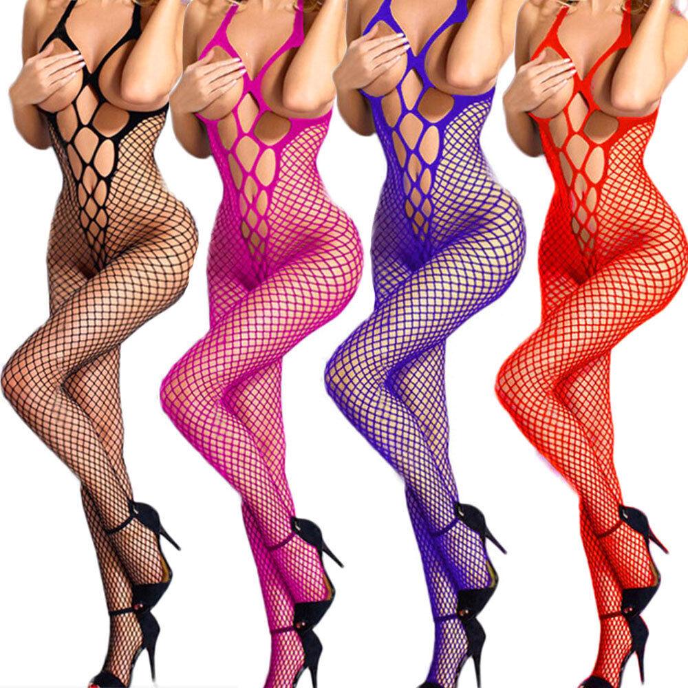 Vestito abito tuta calze rete sexy hot lingerie costume biancheria intima donna