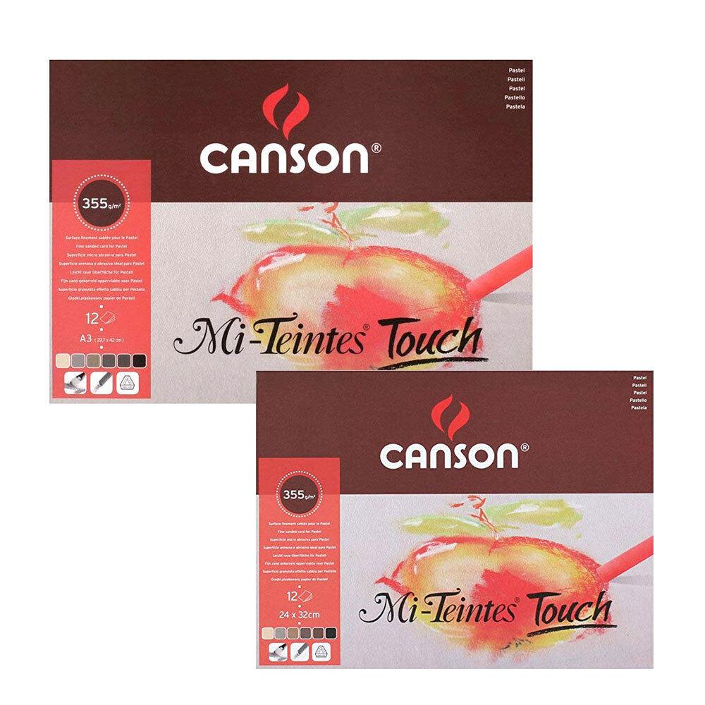 Farbiges Pastellpapier mit Sandpapieroberfläche - CANSON Mi-Teintes Touch