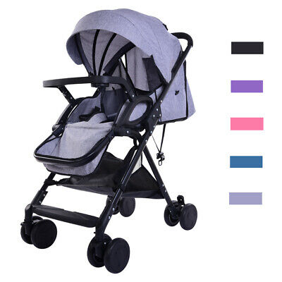 Pushchair Pram Buggy Baby Stroller Lightweight Foldable Waterproof with Hood