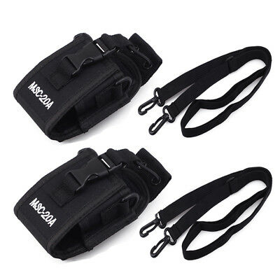 2 Packs Police Radio Belt Case Holster For Motorola Kenwood Baofeng Yaesu Wouxun