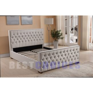 ROYAL - BRAND NEW BED FRAME BEIGE FABRIC FOR BED ROOM Sydney City Inner Sydney Preview