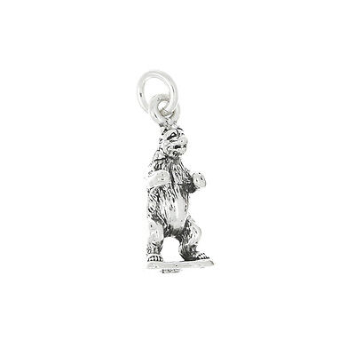 STERLING SILVER WILD BEAR CHARM OR PENDANT