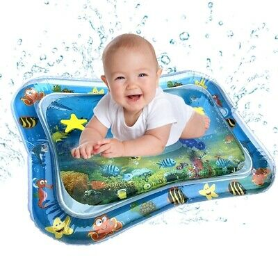 Baby Kids Water Play Mat Inflatable Infant Tummy Time Playmat Toddler for Baby F