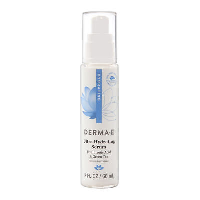 Derma E Ultra Hydrating Serum Hyaluronic Acid & Green Tea 2.0 oz Brand New