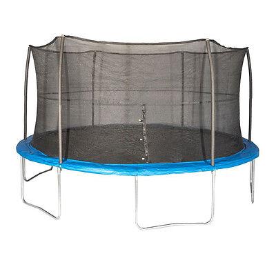JumpKing 15 Foot Outdoor Trampoline & Safety Net Enclosure Kit, Blue | JK15VC2