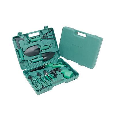 Premium Home Indoor And Outdoor Deluxe 10Pc Garden Tool Set Gardening carry case