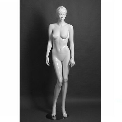 Adult Female Fiberglass Display Mannequin - White Matte Finish - Elizabeth1