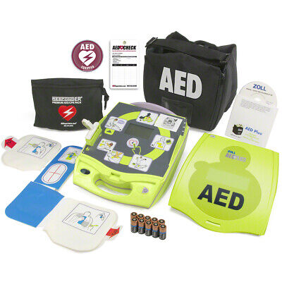 2018 Zoll Aed Plus With Case New Batteries 2025 Cpr-d Padz 5 Year Warranty