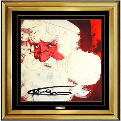 Andy Warhol Hand Signed Color Lithograph, Santa Claus from Myth suite Invitation