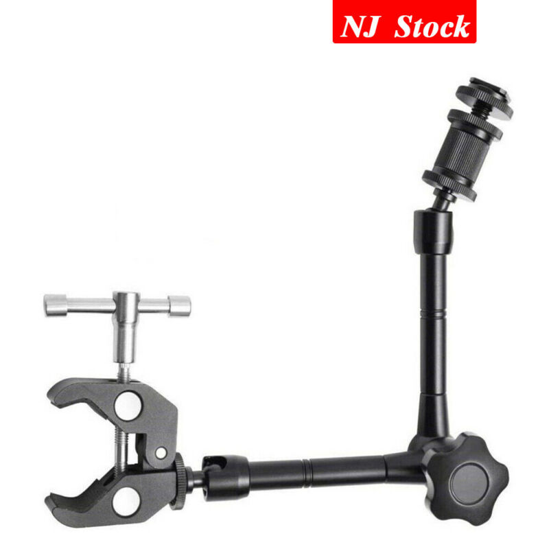 11inch Articulating Magic Arm+Super Clamp For Camera/LCD Monitor/LED Video Light