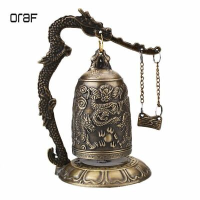 Chinese Collection old Asian Brass Copper Pagoda Pendant Statue