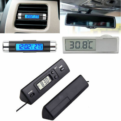 Digital Led Clock Thermometer Wsensor Temperatur Lcd Display For Car Hot Bbc