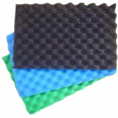 """Koi Pond Filter Foam Eggbox Style 25"""" x 18"""", Offers 3 layers of Filtration"""