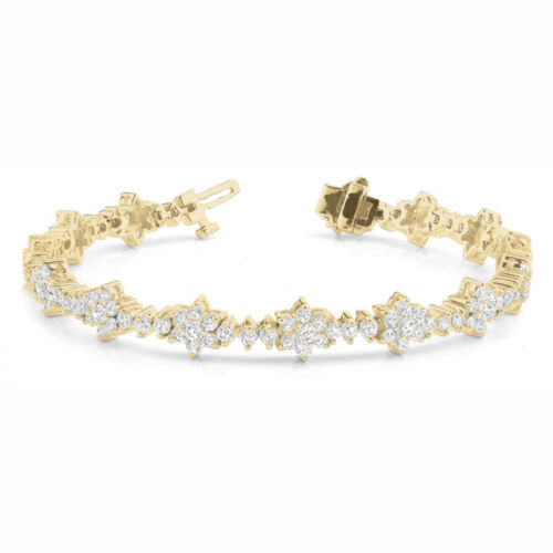 5 Carat Si1 White Round Diamond Bracelet New Fashion Style14k Yg For Women
