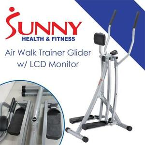 USED Sunny Health  Fitness SF-E902 Air Walk Trainer Glider w/ LCD Monitor Condtion: USED