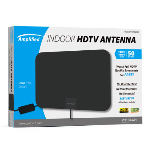 1byone Amplified TV Antenna Digital Indoor HDTV High Gain 10