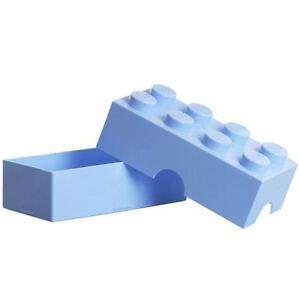 LEGO LUNCH BOX / STORAGE BRICK NEW - LIGHT BLUE