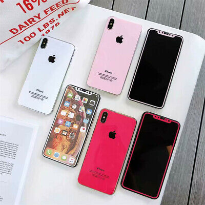 Front Back Tempered Glass Screen Protector Phone Cover For iPhone XS XR 8 7 Plus