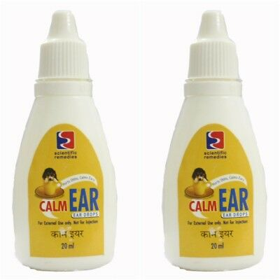 Lot of 2 Dog Calm Ear Drops 20 ML each anti bacterial anti fungal clean ear  ()