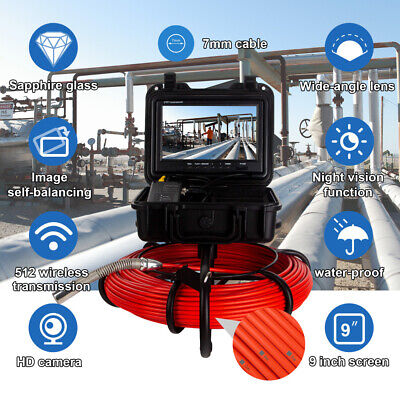 Digital 9 164ft Pipe Inspection Plumbing System Industrial Sewer Camera Video