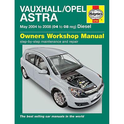 Vauxhall Astra 1.3 1.7 Diesel 2004-08 (04-08 Reg) Haynes Manual