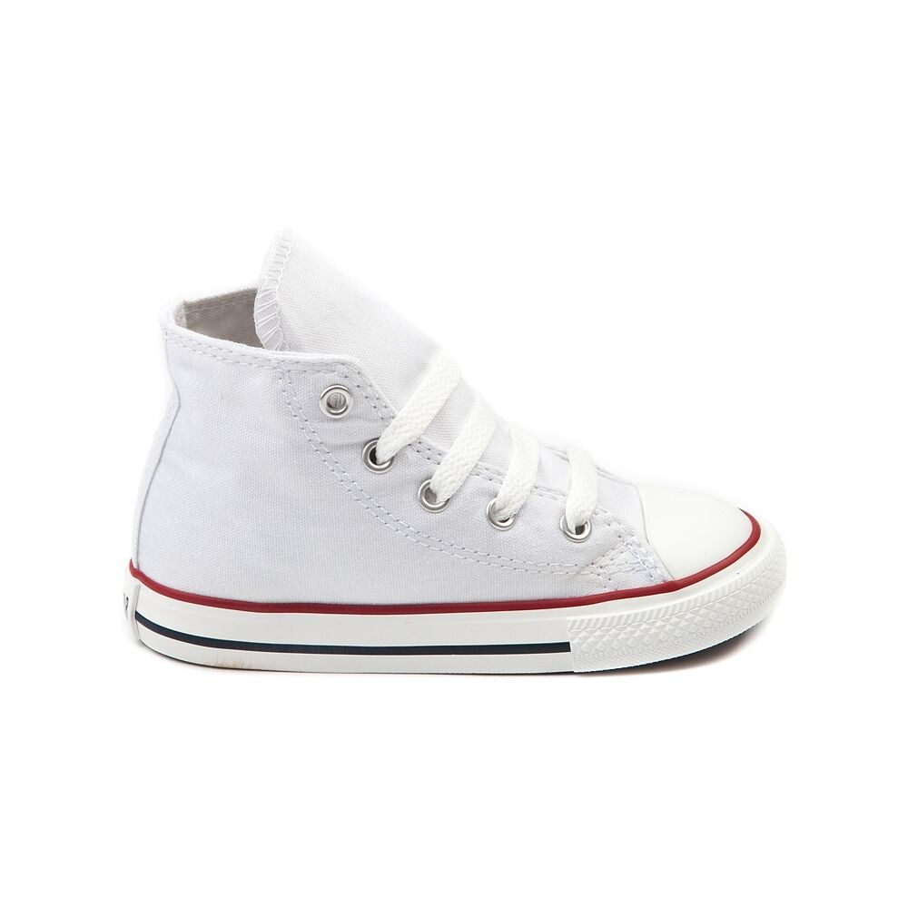 Converse All Star Hi Chucks Infant Toddler Optical White Canvas Shoe 7J253 1
