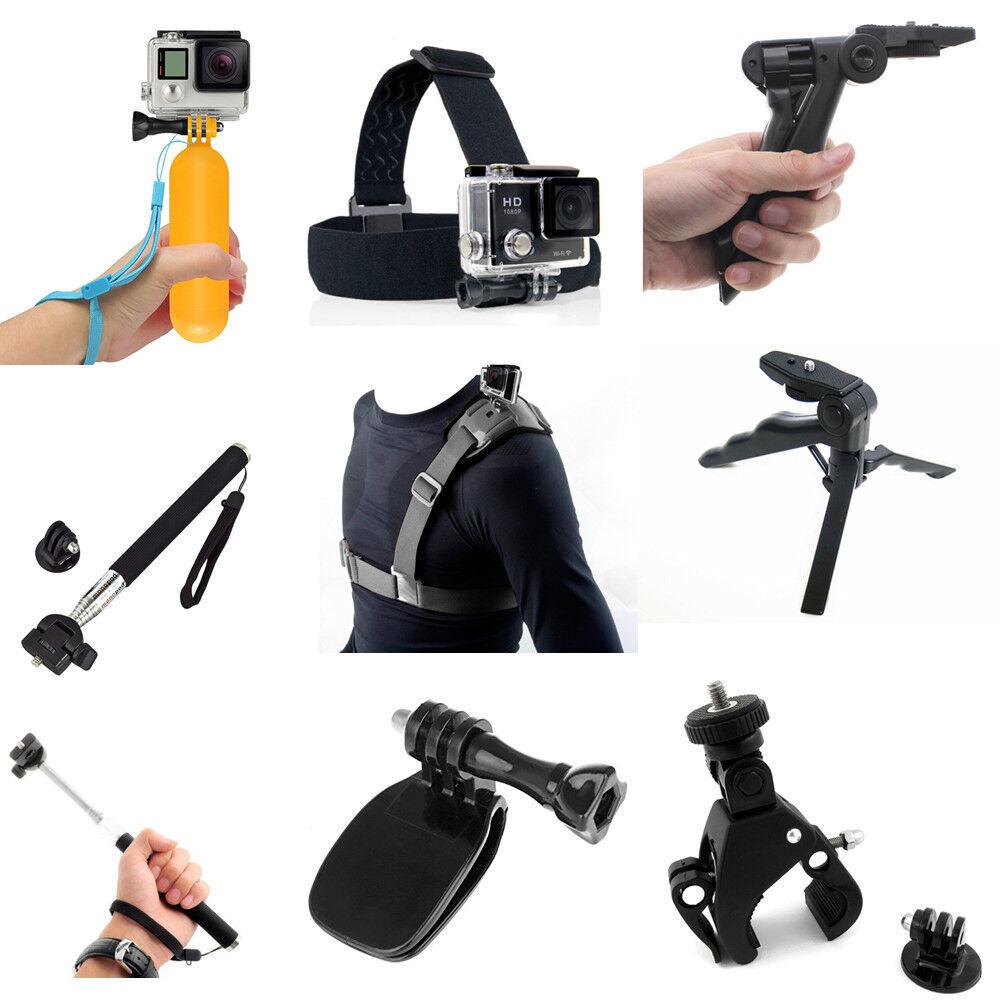 Zubehör Bundle Kopf Brustgurt Lenker Grip Clip Handheld für Sport Action Kamera