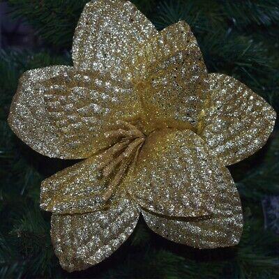 Fiore in oro decorazioni per albero di Natale da addobbi natalizi casa 62 cm