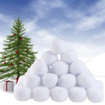 10/50Pcs Indoor Fake Snowballs Throwing Dodge Game Christmas Tree Winter Décor