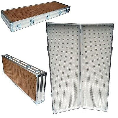 Pegboard Display Pegboard Rack Stand Portable Pegboard Case - 48 X 72 High