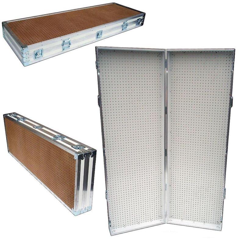 "Pegboard Display Pegboard Rack Stand Portable Pegboard Case - 48"" x 72"" High"