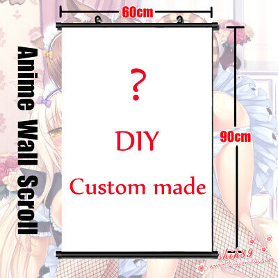 Anime Custom made DIY Customize Home Decor Poster Wall Scroll 60*90cm Gift (Diy Scroll)