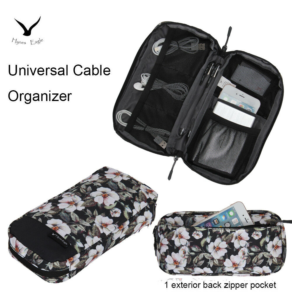 Hynes Eagle Travel Gear Universal Cord Cable Organizer Digital Storage Bag