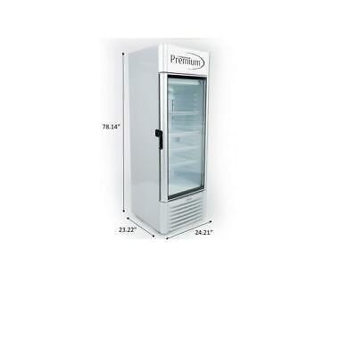12.5 Cuft Single Glass Door Upright Display Cooler. Merchandiser Refrigerator