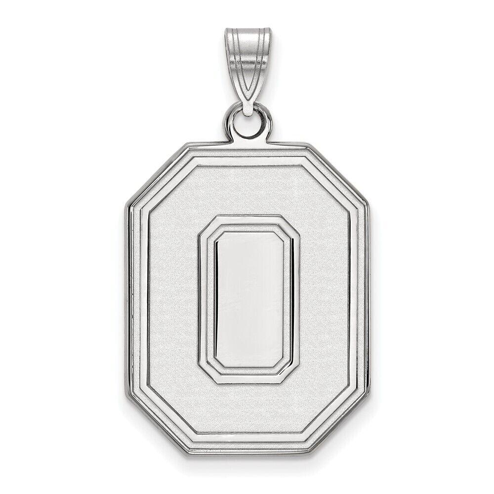 925 Sterling Silver Rhodium-plated Laser-cut Ohio State University XS Pendant