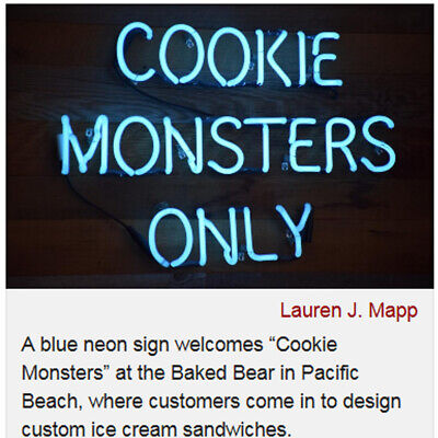 Best Blue Neon Sign Cookie Monsters Custom Beer Ice Cream Sandwiches Glow (Best Ice Cream Sandwich)